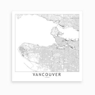 Vancouver Map Art Print