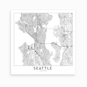 Seattle Map Art Print