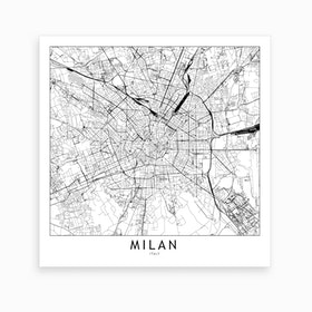 Milan Map Art Print I