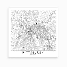 Pittsburg Map Art Print