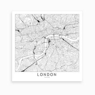 London Map Art Print I