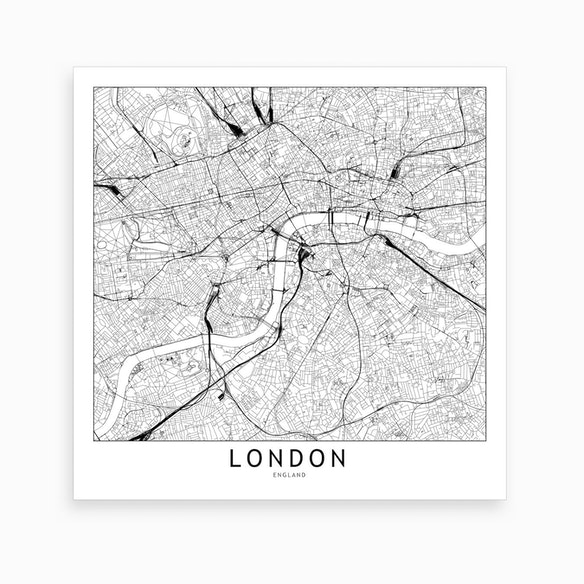 London Map Art Print I By Multiplicity Fy