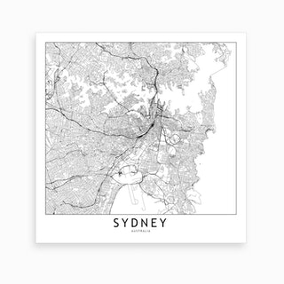 Sydney Map Art Print