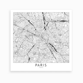 Paris Map Art Print I