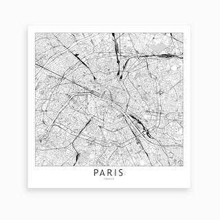 Paris Map Art Print I