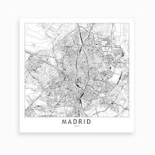 Madrid Map Art Print