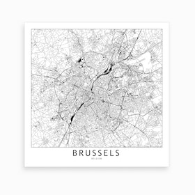 Brussels Map Art Print I
