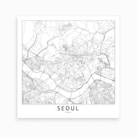 Seoul Map Art Print