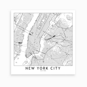 New York Map Art Print I