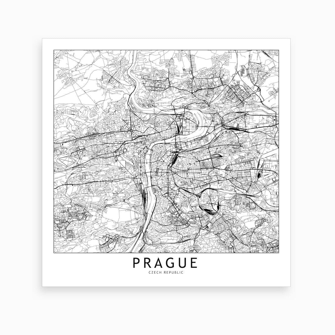 Prague Map Art Print