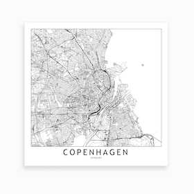 Copenhagen Map Art Print I
