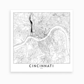 Cincinnati Map Art Print