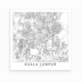 Kuala Lumpur Map Art Print