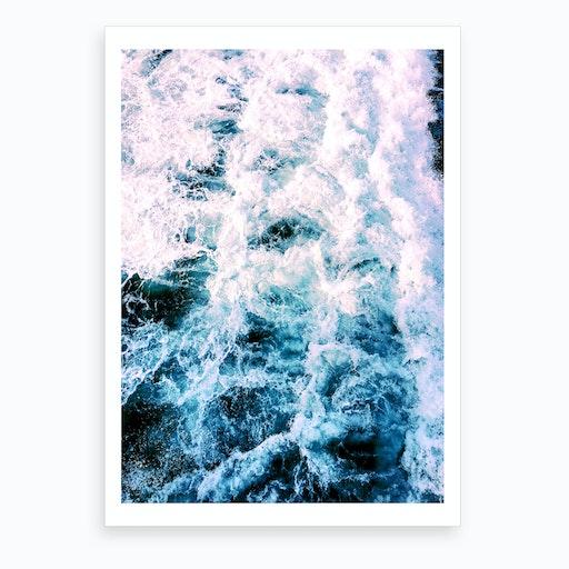 Huntington Beach Waves Art Print