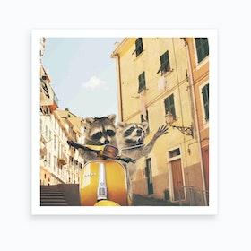 Raccoons in Italy Art Print