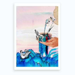 Tea Bath Time Art Print