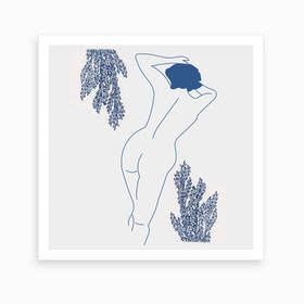 Blue X Art Print