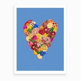 Heart Floral Art Print