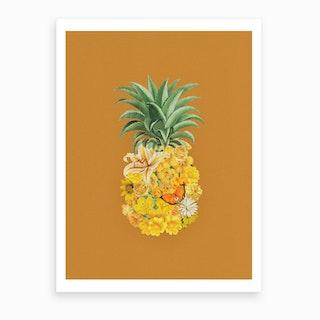 Pineapple Yellow Art Print