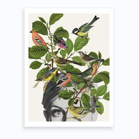 Twiggy Eyes Art Print