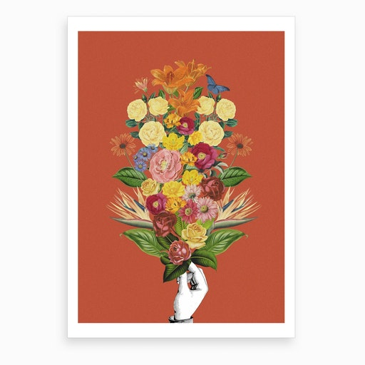Botanical Red Art Print