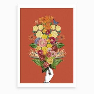 Botanical Red Art Print