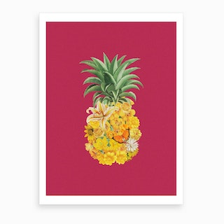 Pineapple Pink Art Print