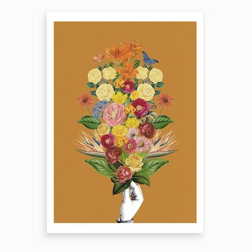 Botanical Yellow Art Print