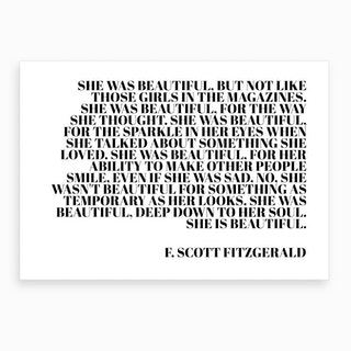 She Was Beautiful Art Print