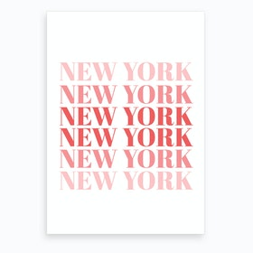 New York X Art Print
