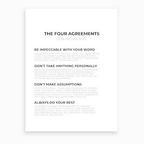 The Four Agreements Art Print