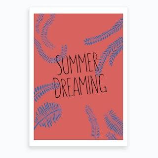 Summer Dreaming Red Art Print
