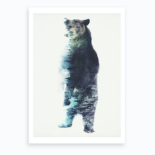 Misty Bear Art Print