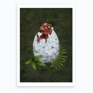 Baby Raptor Art Print