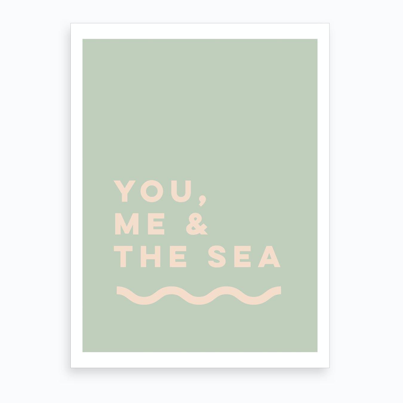 You Me & The Sea Art Print