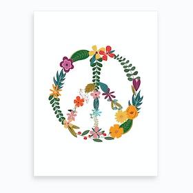 Peace X Art Print