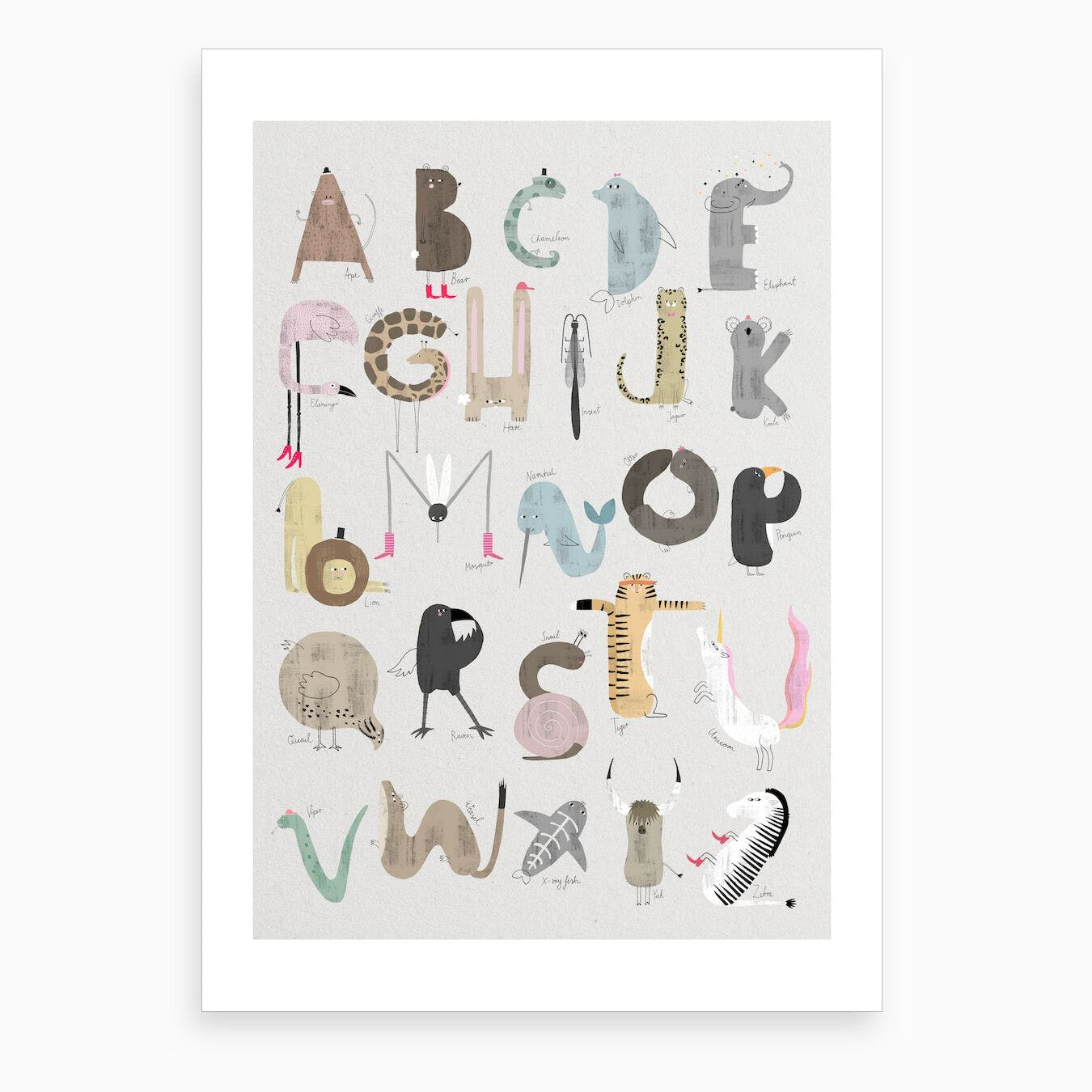 ABC Kids Art Print