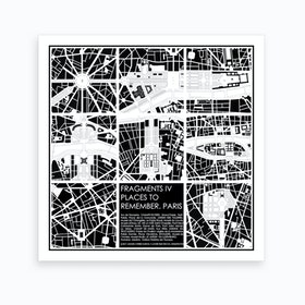 Paris Fragments Art Print