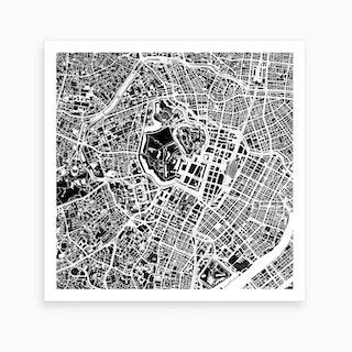 Tokyo Black and White Art Print
