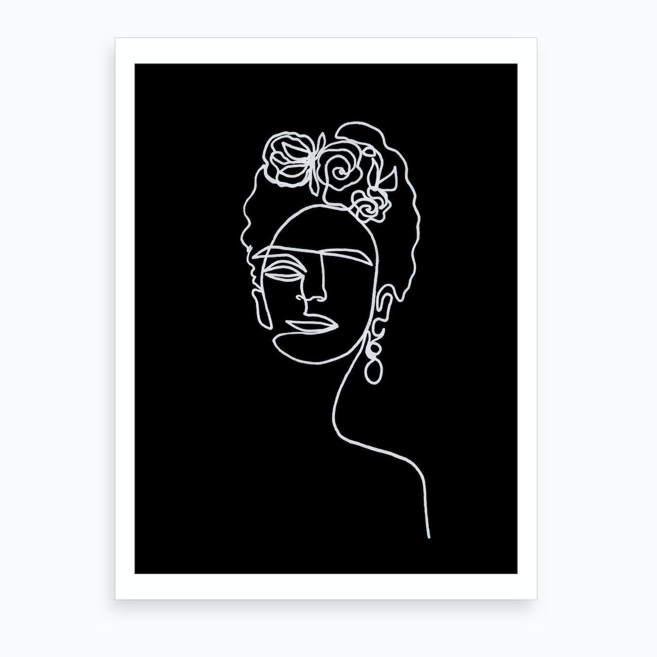 Frida kahlo black and white by julia hariri