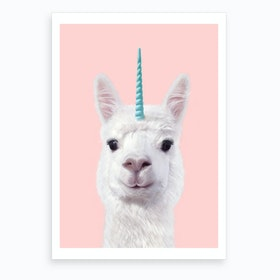 Alpaca Unicorn Art Print