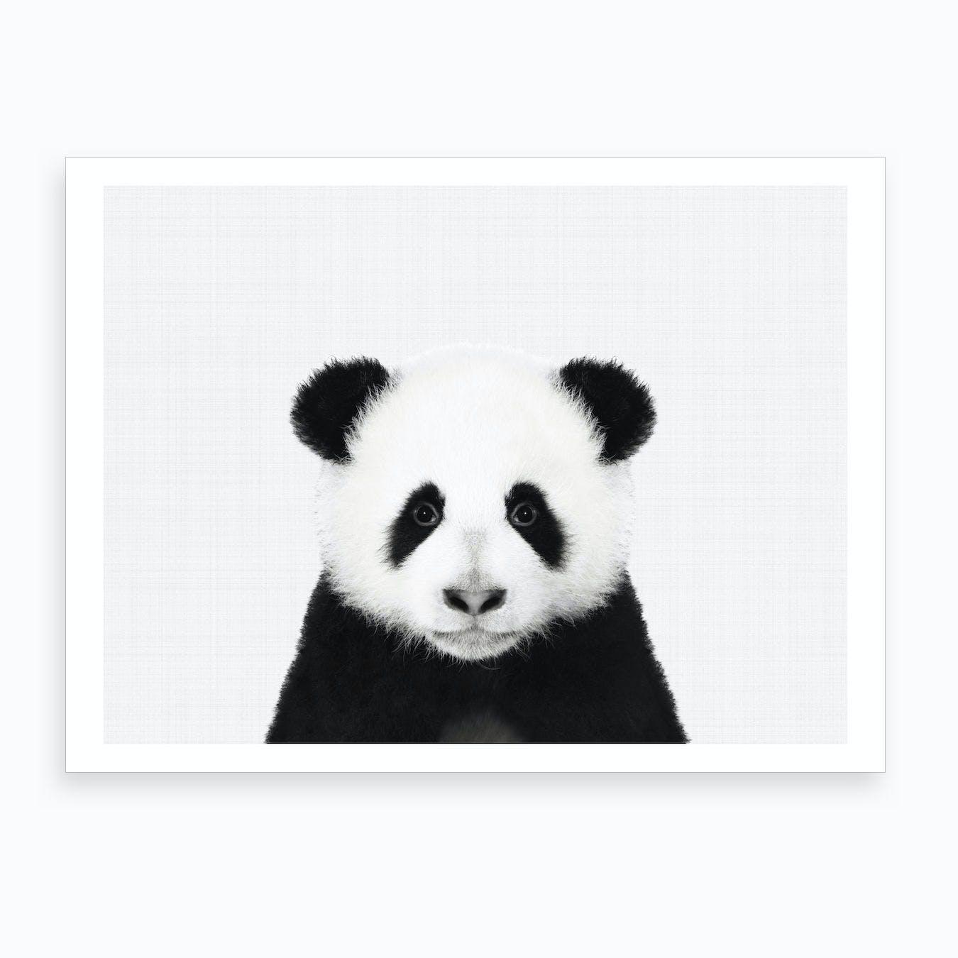 Panda BW I Art Print