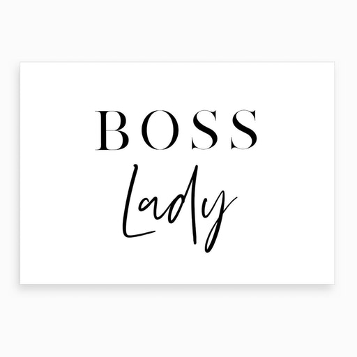 Boss Lady X Art Print
