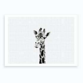 Giraffe B&W I Art Print