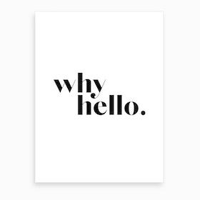 Why Hello IV Art Print