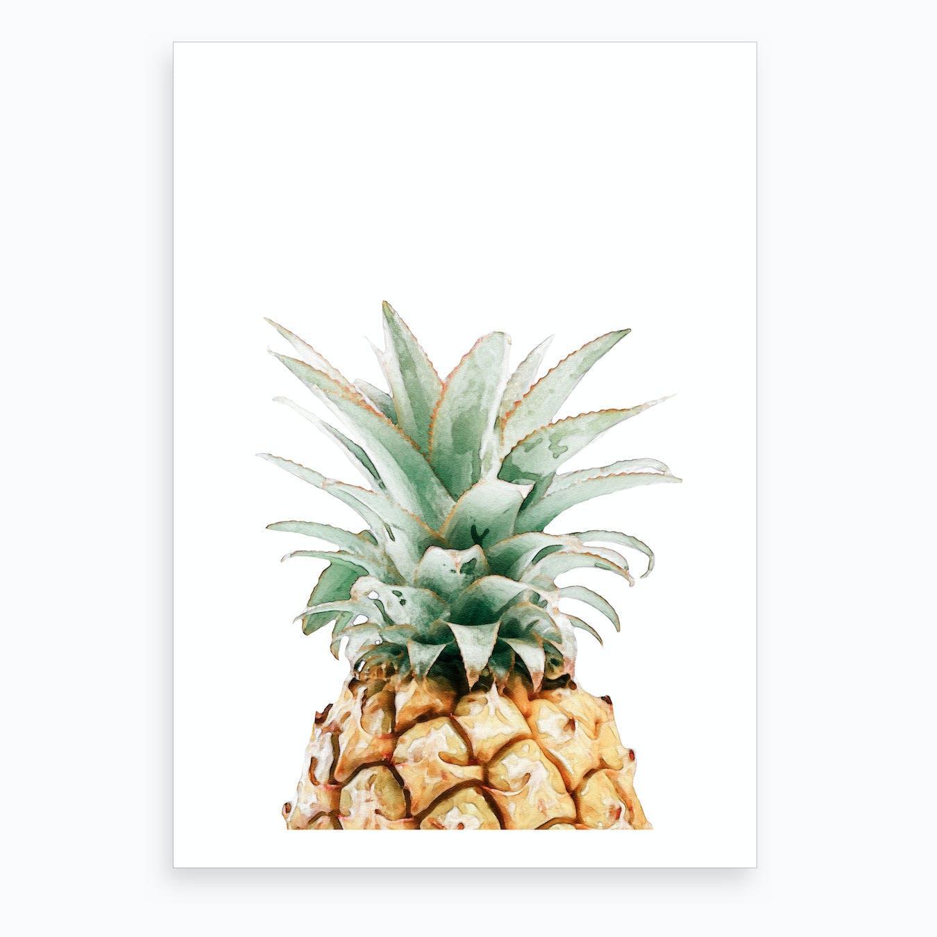 Watercolor Pineapple I Art Print