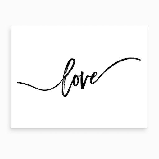 Love X Art Print