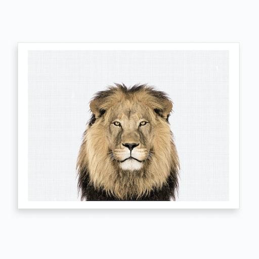 Lion X Art Print