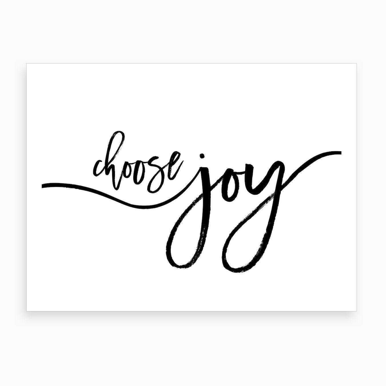 Choose Joy X Art Print