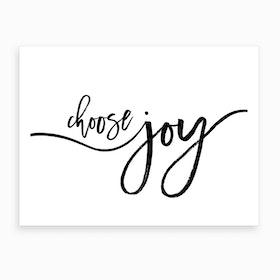 Choose Joy X Art Print